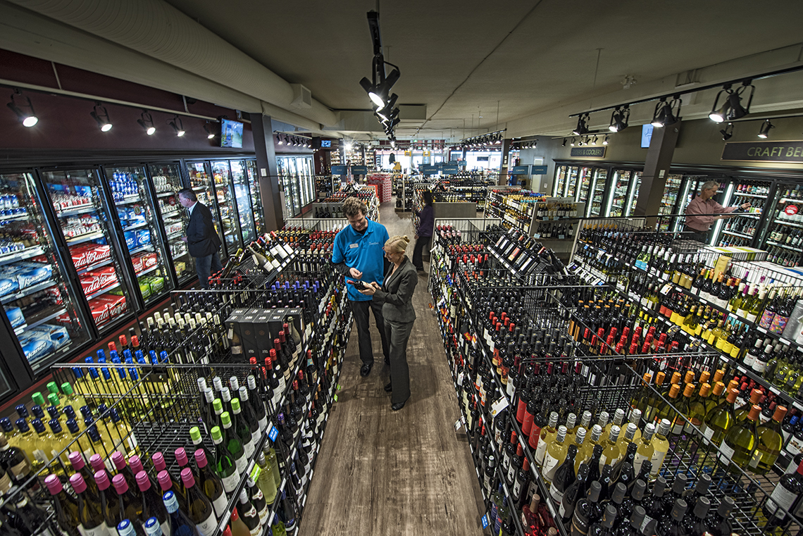 You find everything you need in the region's largest liquor retail space at  Brooks Landing in central Nanaimo.